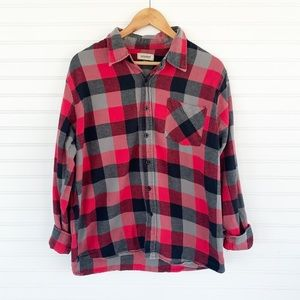 Men's Anchor Blue red button down flannel